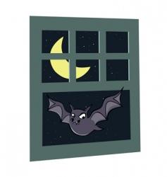 bat window vector image vector image