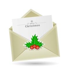 Christmas envelope vector image