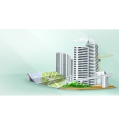 City building background vector image