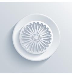 Modern indian republic day circle icon vector