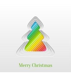 Creative christmas tree vector