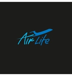 Isolated plane logo Airplane side view vector image