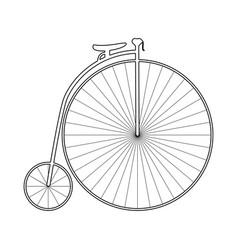 retro bicycle black icon vector image