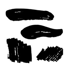 a collection black grungy abstract hand vector image