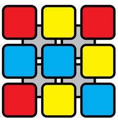 Abstract - colored rounded squares vector