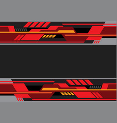 Abstract red black tone futuristic technology vector