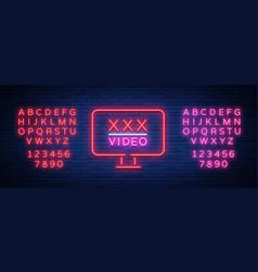 Adult night sign neon sign logo symbol vector