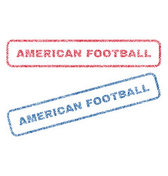 American football textile stamps vector