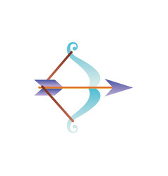 Archery bow arrow fantasy gradient style vector