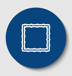 arrow on a square shape white contour vector image