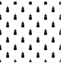 baby bottle pattern seamless vector image