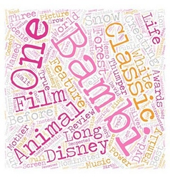 Bambi dvd review text background wordcloud concept vector