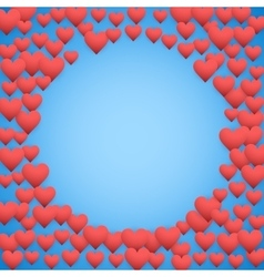Blue Valentines day background vector image