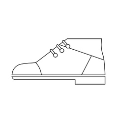 Boot with with laces icon outline style vector image