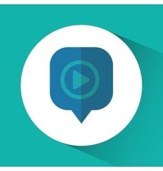 Bubble play message social media design vector
