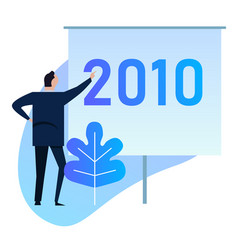 businessman manager presents 2010 corporate vector image