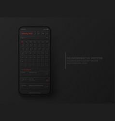 Calendar mobile ios app february 2022 ui ux vector