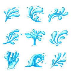 cartoon water splash energy splashes clipart vector image
