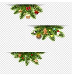christmas banners set with christmas toys and vector image