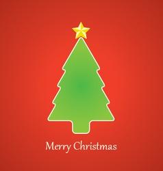 Christmas Tree and Star vector image