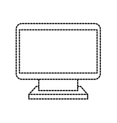 computer monitor device wireless technology icon vector image