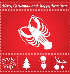 Crayfish icon vector