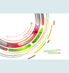 Curvy color on a white vector