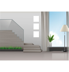 design of hall vector image