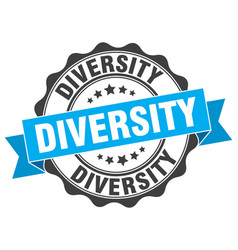 Diversity stamp sign seal vector