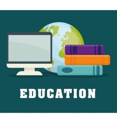 Education and elearning icons vector image