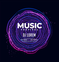 electro music flyer design background vector image