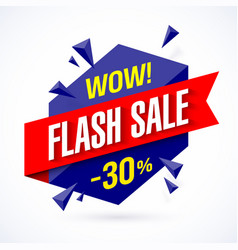 Flash sale poster banner vector