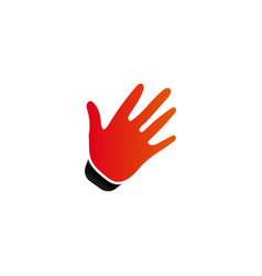 hand palm logo icon template vector image