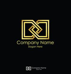 Infinity initial letter dd letter d logo design vector