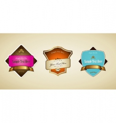 labels with ribbon vector image