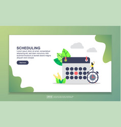 landing page template scheduling modern flat vector image