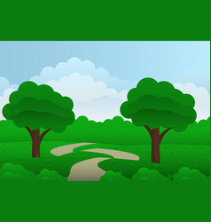 landscape from fantasy compositions sea with vector image