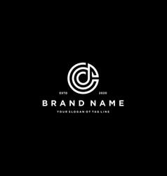 Letter cd logo design vector