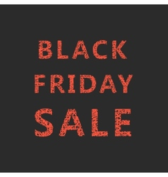 lettering of sketch black friday sale vector image