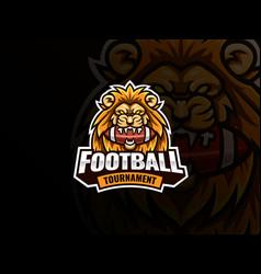 lion head mascot sport logo design vector image