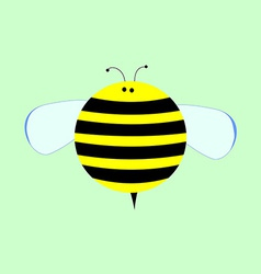 Little Cute Cartoon Bee for Kids vector image