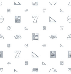 math icons pattern seamless white background vector image