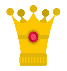 Medieval crown icon isolated vector
