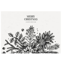 Merry christmas greeting card or invitation vector