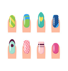nail service and art poster vector image