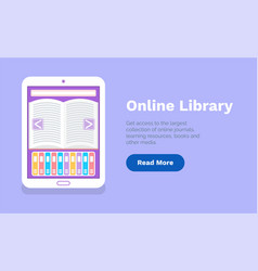 online library web page template education vector image