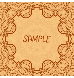 Ornamental frame delicate floral pattern square vector