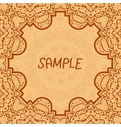 Ornamental frame delicate floral pattern square vector image