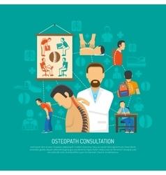 Osteopathy Design Concept vector