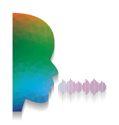 people speaking or singing sign colorful vector image